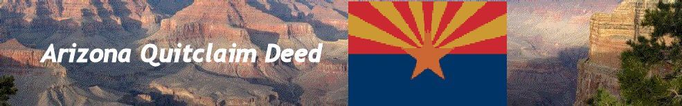 Arizona QuitClaim Deed header image