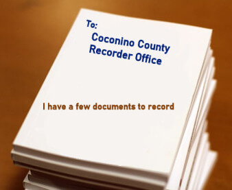 Coconino County Recorder Office receiving Arizona Quitclaim Deed to be recorded